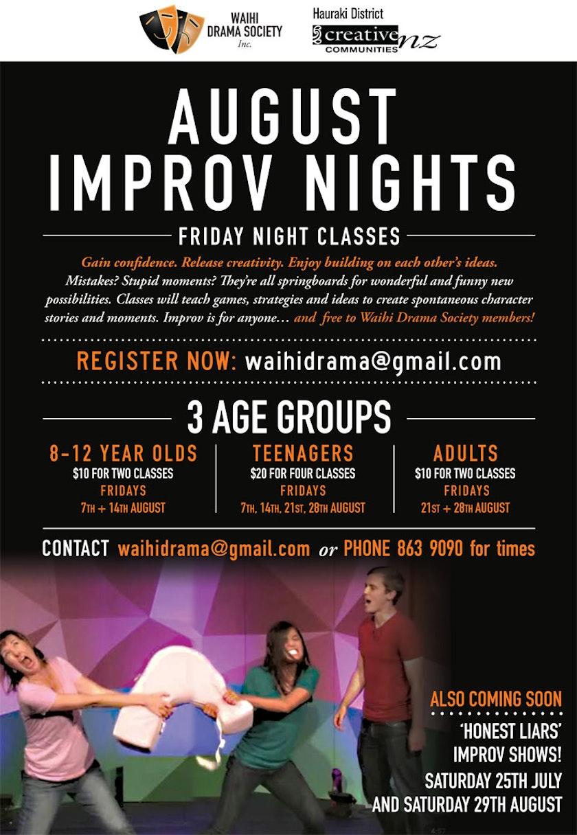 Improv Classes August 2020