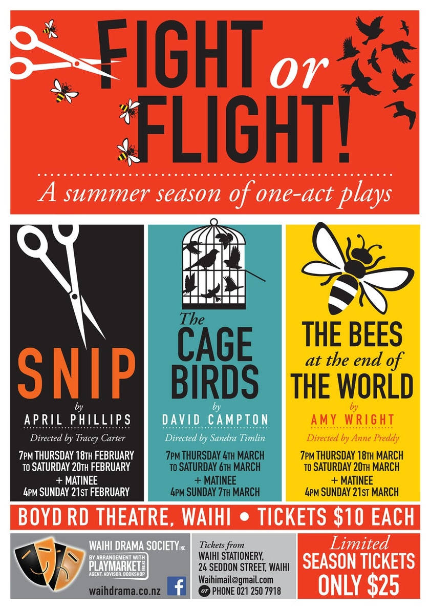 Fight or Flight — A summer season of one-act plays