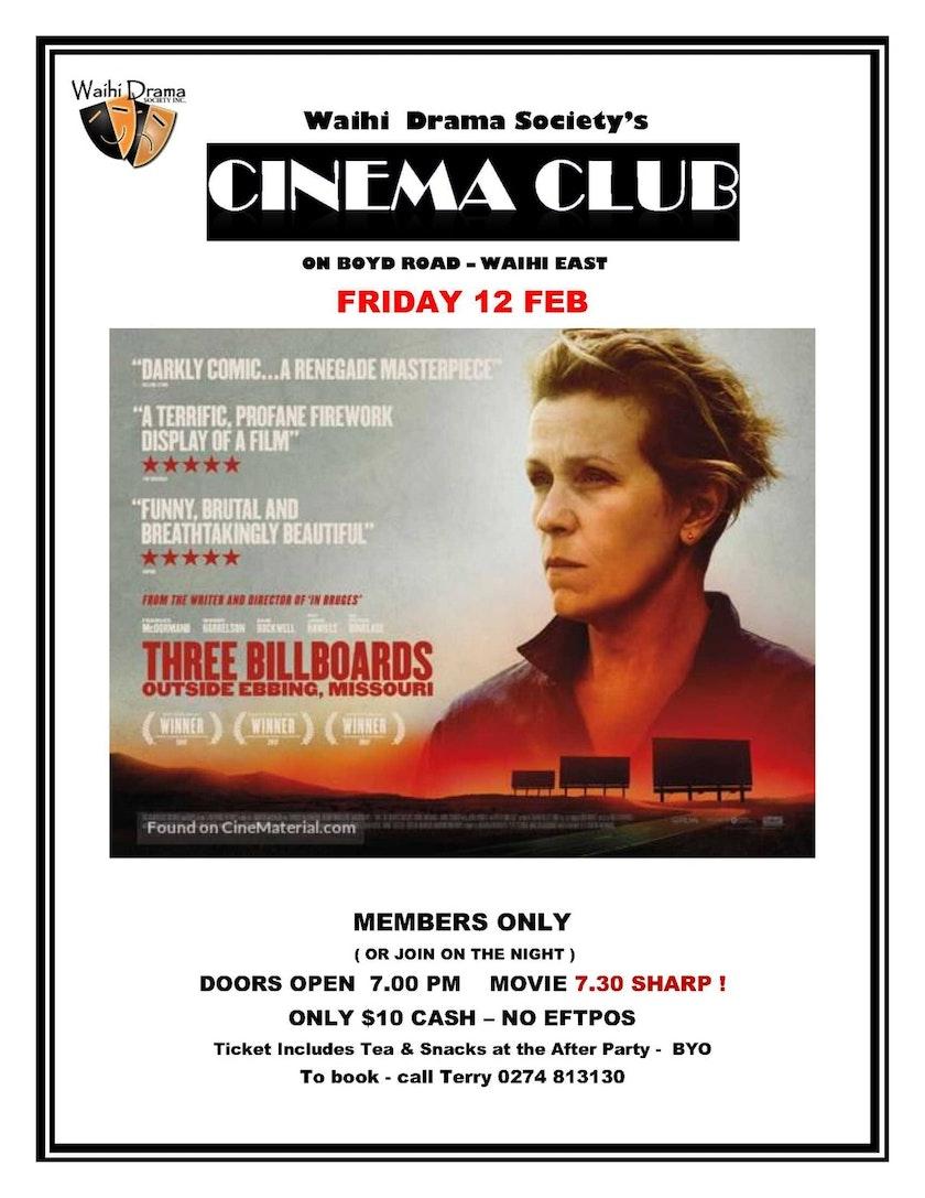 Cinema Club - Three Billboards